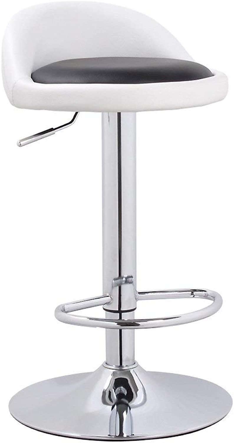 DYR Swivel bar stools Chairs, Adjustable Height Kitchen Chair Breakfast stools Bar stools with Back Adjustable Swivel Gas Lift-M