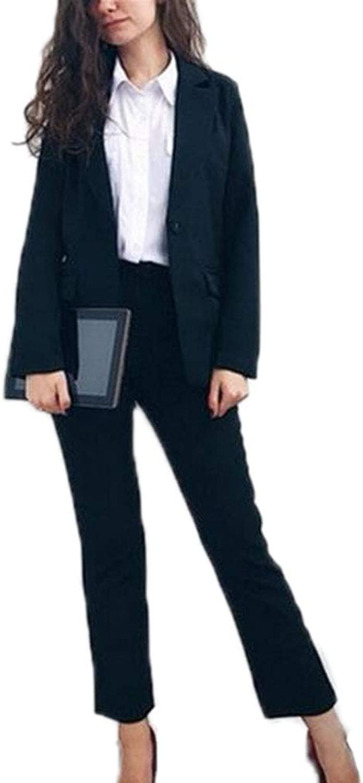 JYDress Women's Elegant Office Lady Business Suits Two Piece Sets Female Blazer & Pants