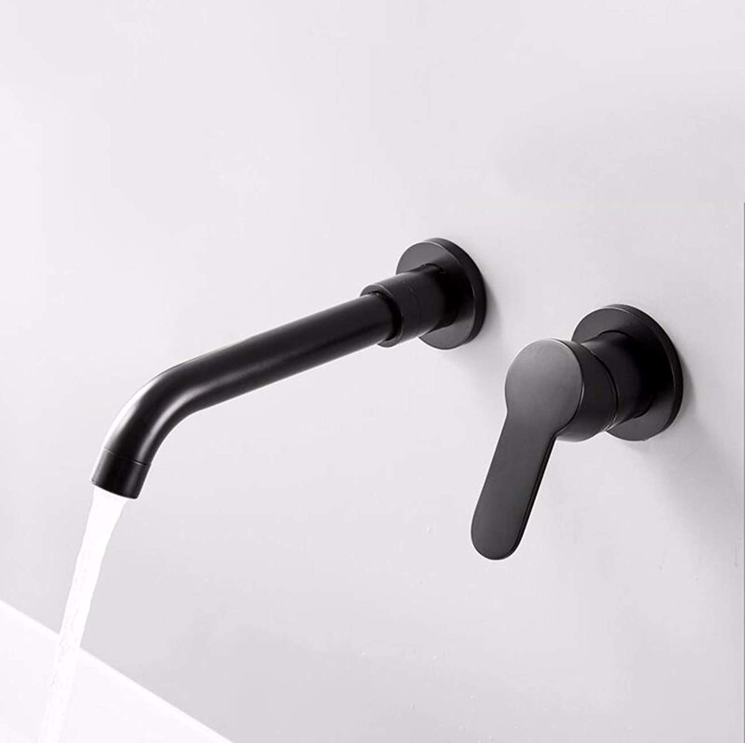 XPYFaucet Faucet Tap Taps Matte black copper body concealed wall-mounted hot and cold basin bathroom washbasin