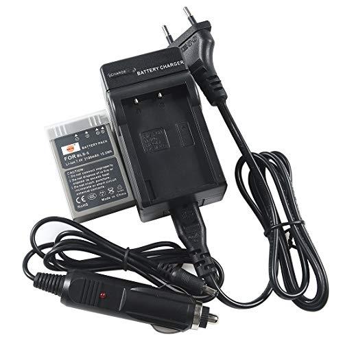 DSTE Repuesto Batería y DC84E Viaje Cargador kit para Olympus BLS-1E-400E-410E-420E-450E-600E-620E-P1E-P2E-P3PL1E E-PL7E-PL2E-PL5E-PL6E-PM1E-PM2E-M10PLE15Stylus...