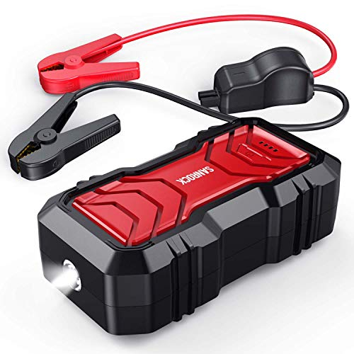 SANROCK 2500A Peak Portable Car Battery Jump Starter (up to 8.0L Gas or 8.0L Diesel) 22800mAh with USB Qick Charge, in&Out Type-C, 12V Auto Portable Power Pack Battery Booster Built-in LED Light