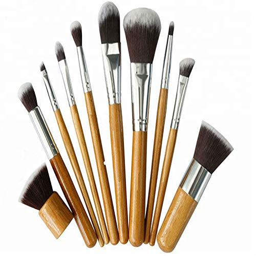 Bamboo King Set de pinceaux cosmétiques en bambou 100% naturel