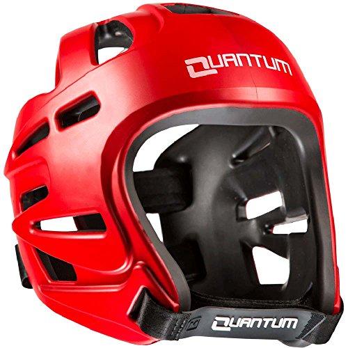 Quantum Kopfschutz RV, Rot, Head Guard Protector, Wettkampf, MMA Größe S