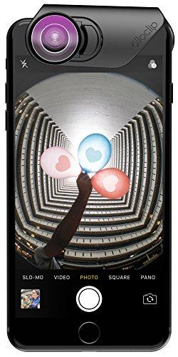 Olloclip Lente Ojo de Pez y Macro 15x – Objetivos para iPhone 8 Plus, 7 Plus - Negro