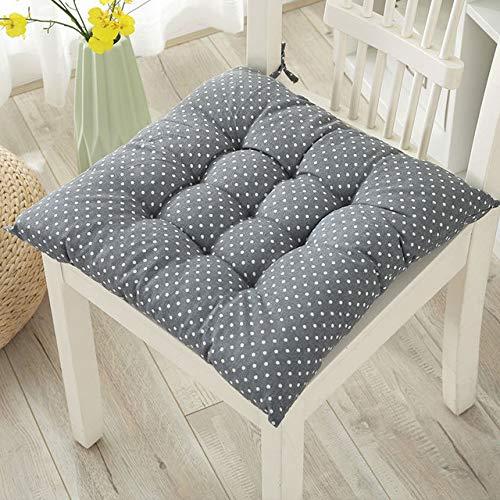 Nicole Knupfer - Juego de 2 cojines de asiento para interior y exterior para silla con cintas acolchadas para asiento de silla en casa y jardín, Wave Point., 50*50