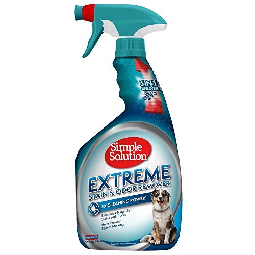 Simple Solution Extreme Stain and Odor Remover, 32-Ounce Spray Bottle