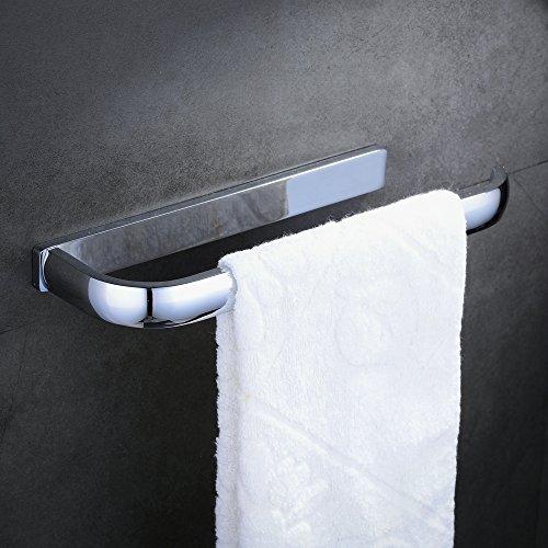 Hiendure® 30cm Messing Handtuchhalter extra lang Toilettenpapier -Rack, polierte Chromoberfläche