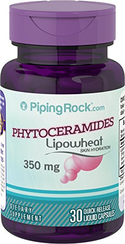 Piping Rock Phytoceramides Lipowheat Skin Hydration 350 mg 30 Quick Release Liquid Capsules Dietary Supplement