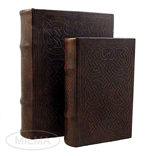 Vintage Design Celtic Knot Motif Irish Decorative Leather Book Box Set Storage Secret Book