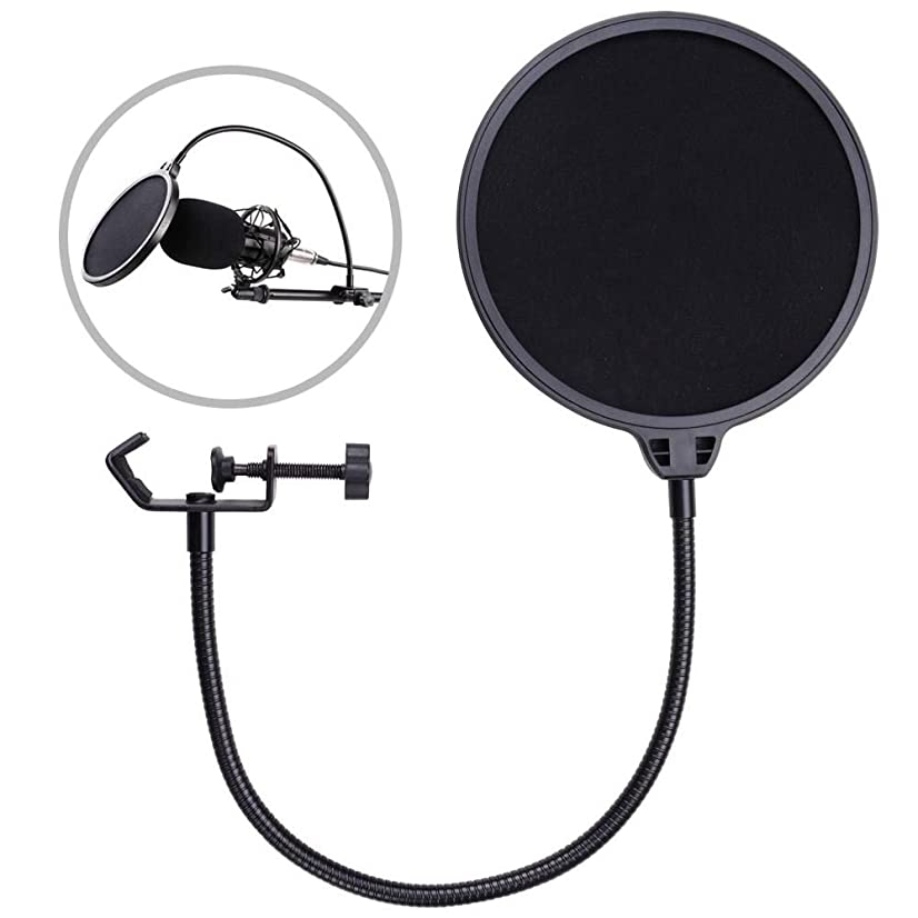 M2 Outlet Recording Studio Mic Wind Screen Double Layer Mask Shield Microphone Pop Filter