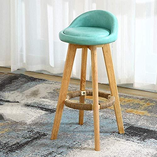 Holz Moderne Freizeit Bar Stuhl Frühstück Restaurant Cafe Dinner-Öl-Wachs Bar Stuhl Rückenlehne aus Holz Einfacher Stuhl Sessel