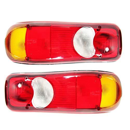 Paar Rücklicht Rückleuchten Heckleuchten E-Mark TUV LKW Pritsche Lampenträger 24V