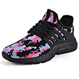 Troadlop Women Running Shoes Non Slip Walking Cushion Mesh Comfortable Gym Casual Shoes Sneaker Size 9.5 CF-Black Zapatos de Mujer Womens Sneakers Tenis para Mujeres Platform Sandals