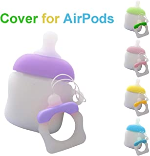 Cute Protective Silicone Cover Compatible with Apple Airpods Case,Unine Cartoon 3D Creative Nipple Air Pods Charging Box Skin,Sleeve Shock Drop Proof Shell with Keychain Plug Anti-Lost Rope