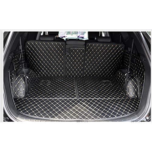 LUVCARPB Autoinnenraum Kofferraum Teppich Cargo Liner Fußmatten, Fit für Hyundai Santa Fe 7 Sitze 2013-2018, Autoteppich Wasserdichtes Zubehör