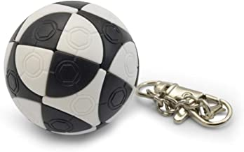 OUYAWEI Rubik Toy Mini Football Shape Keychain Magic Cube Educational Toy Kids Stress Reliver Prop