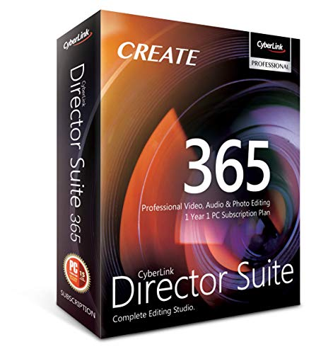 Cyberlink Director Suite 365   1 Year   1 PC Subscription - Professional Video, Audio & Photo Editing
