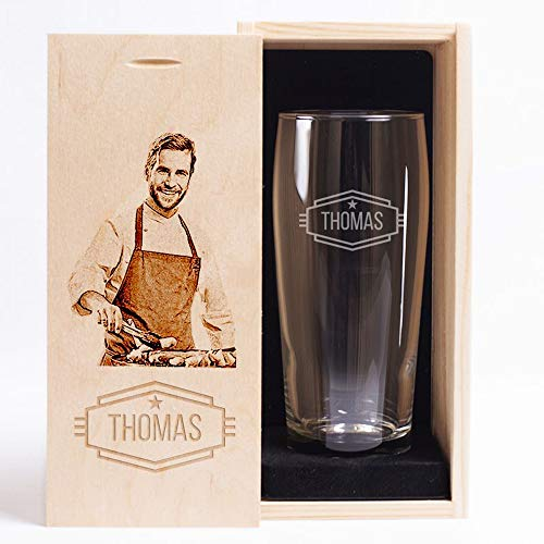 Bicchiere da Birra con Cofanetto Personalizzato - Nome e Foto