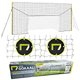 Open Goaaal USA - Soccer Goal Bundle Includes Junior Soccer Goal/Soccer Backstop/Soccer Rebounder All in One and Practice Targets (2 Pack) for Volley, Passing, and Solo Training