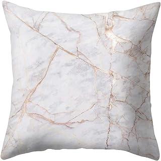 Monbedos Housse de coussin en peau de pêche Motif marbre 45x45cm