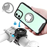 SOKUSIN Bike Phone Mount,3 in 1 Bike Phone Holder with Shockproof Case Compatible with iPhone 12 Mini / k4 Finger Ring Stand,One Second Release Bicycle Cell Phone Mount,Motorcycle Handlebars Mount