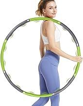DUTISON Hoepel voor volwassenen voor gewichtsverlies en massage, 6-8 segmenten, afneembare hoelahoep met mini-bandmaat (gr...