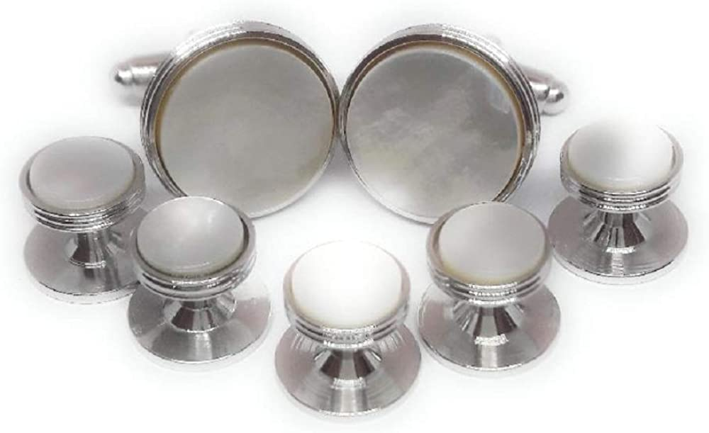 Menz Jewelry Accs Mother of Pearl Cufflinks and Studs