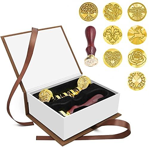 Sigillo Timbro di Cera, Wax Seal Stamp Kit per Buste, inviti, Confezioni di Vino, Confezione Regalo, 25mm