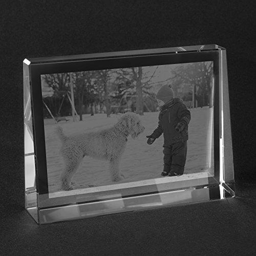 Personello® Glasfoto selbst gestalten, Fotogeschenk aus Glas selber Machen, Größe S=80x60x25mm