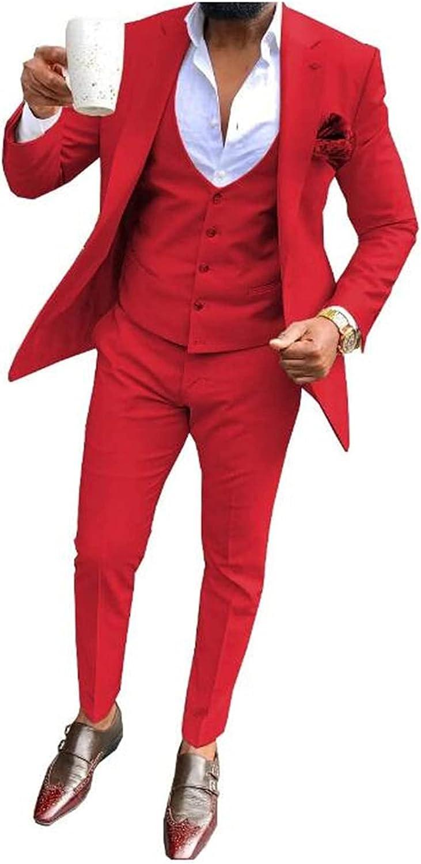 Men Wedding Suits (Blazer+Pants+Vest) Business Grooms Tuxedo