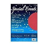 Carta metallizzata Favini 20 fogli A4 120Gr special events rosso [A69C154]
