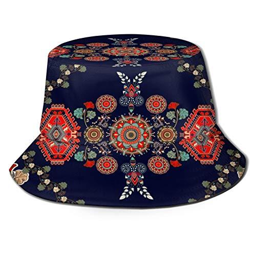 PUIO Sombrero de Pesca,Toalla Alfombra Colorido Diseño Vector Húngaro,Senderismo para Hombres y Mujeres al Aire Libre Sombrero de Cubo Sombrero para el Sol