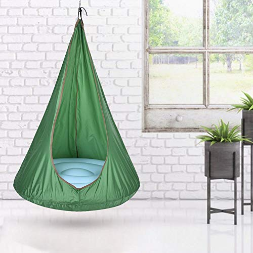 Millster Hanging Chairs For Bedrooms Kids Tent Chair With Stand-Kids Pod Swing Seat Children Hammock -Chair For Fun Indoor Outdoor Use