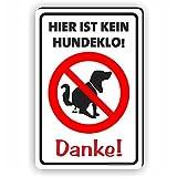 Fassbender-Druck SCHILDER Aquí no es un Cartel para Perro – Danke – No es un Maillot para Perros/T-023