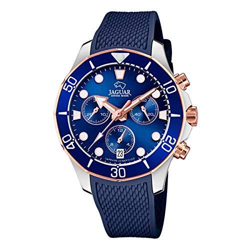 JAGUAR Reloj Modelo J890/4 de la colección Woman, Caja de 38,50/38,50 mm Correa de Caucho...