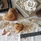 NATUREHOME Herz aus Olivenholz – Holz Handschmeichler Glücksbringer ideal als Geschenk zur Hochzeit Taufe Geburt Geburtstag oder als Schutzengel Anti-Stress Holzherz Deko (5 cm) - 5