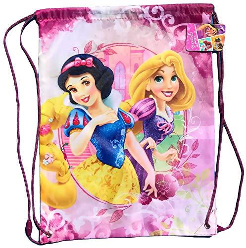Coole-Fun-T-Shirts Princess Disney Prinzessinnen Kinder Turnbeutel Mädchen Rucksack Tasche Beutel Gymbag