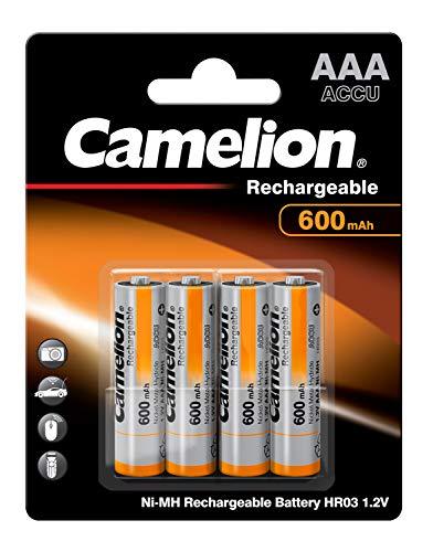 Camelion 17006403 Akku (NiMH, R03, Micro, AAA, 600 mAh, 4er-Pack)