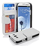 Cadorabo Hülle für Samsung Galaxy S3 / S3 NEO in Magnesium WEIß – Handyhülle mit Magnetverschluss & 3 Kartenfächern – Hülle Cover Schutzhülle Etui Tasche Book Klapp Style