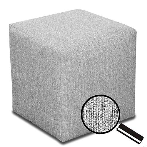 Best for Home Sitzhocker Sitzwürfel Bodenkissen Fußhocker 40x40x40 cm viele Farben (Silber)