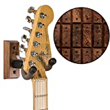 String Swing Premium Guitar Wall Mount - Holder for Electric Acoustic and Bass Guitars - Stand Accessories Home or Studio Wall - Musical Instruments Safe – Unique Hand Selected Black Walnut CC01K-BW