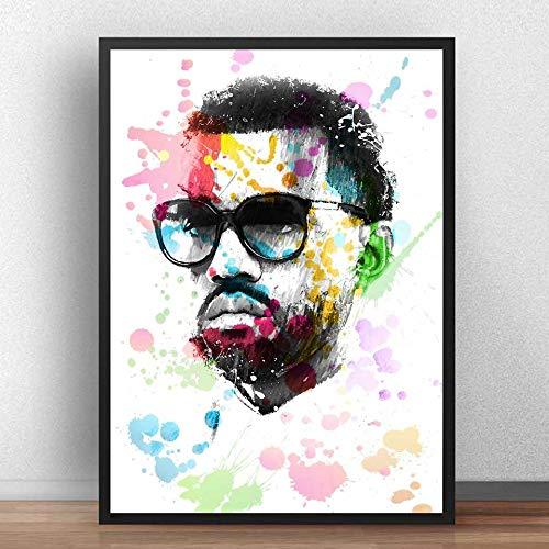 KWzEQ Musik Sänger Rapper Wandkunst Poster Druck auf Leinwand Wohnzimmer Moderne Dekoration,Rahmenlose Malerei,50X75cm