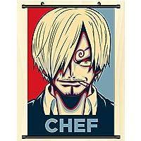壁の巻物のポスターアニメ漫画のキャラクター布掛け絵画家の装飾アニメ-ファンギフト One Piece 50x75cm