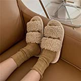 Zapatillas de calor de invierno shengluu Zapatos caseros antideslizantes Zapatillas al aire libre interior Zapatillas de algodón Zapatillas de lana de fondo lindo de fondo plano cálido Lámpara azul 38