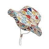 Bonito Sombrero de bebé para niños, Sombrero de Pescador Ajustable, Sombreros de protección Solar, Sombreros de Playa de Verano, Gorra Plegable Plana-a50