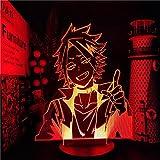 3D Night Light 3D Illusion Lamp Denki Kaminari My Hero Academia Anime Lamp for Kids boy Bedroom Decor Lighting Boku No Hero Academia 3D LED NightLight Gift Toys 7 Color Touch DHD