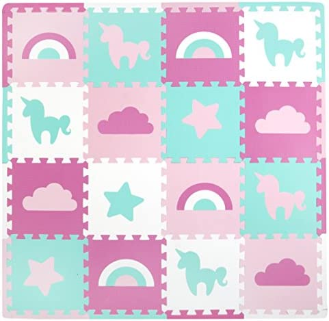 Tadpoles Baby Play Mat Kid s Puzzle Exercise Play Mat Soft EVA Foam Interlocking Floor Tiles product image