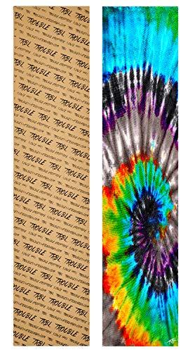 """Trouble 11"""" x 49"""" Longboard Grip Tape Skateboard Griptape Sheet Bubble Free Tie Dye (L22)"""