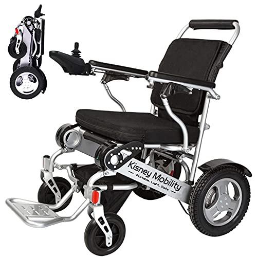 Nueva silla de ruedas eléctrica plegable ultraligera, transporte aéreo permitido, servicio pesado, movilidad motorizada, silla de ruedas deportiva motorizada de aleación de aluminio portátil,