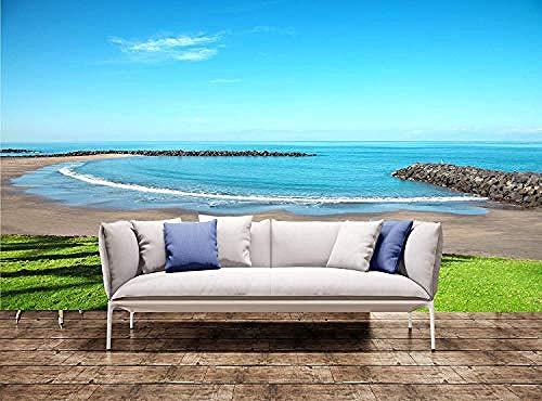 XHXI Wandbild Riesiger Strand in Playa De Las Americas Teneriffa Wanddruck Wandbild Wandtattoo Wandteppich Wanddekoration fototapete 3d Tapete effekt Vlies wandbild Schlafzimmer-300cm×210cm